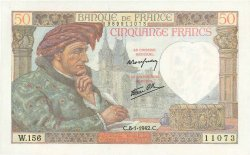 50 Francs JACQUES CŒUR FRANCE  1942 F.19.18 pr.NEUF