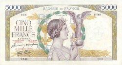 5000 Francs VICTOIRE Impression à plat FRANCE  1941 F.46.30 SUP