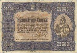 25000 Korona HONGRIE  1922 P.069a TB