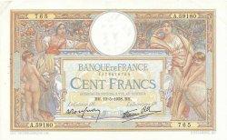 100 Francs LUC OLIVIER MERSON type modifié FRANCE  1938 F.25.19 pr.SUP