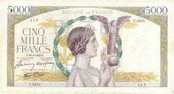 5000 Francs VICTOIRE Impression à plat FRANCE  1943 F.46.49 TTB+
