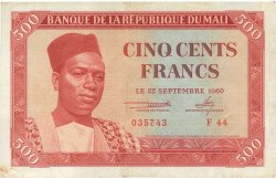 500 Francs MALI  1960 P.03 TTB