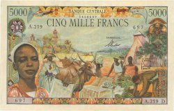 5000 Francs type 1962 GABON  1962 P.06d TTB