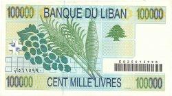 100000 Livres LIBAN  2004 P.89 TTB