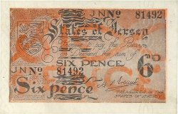 6 pence JERSEY  1941 P.01a SPL