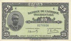 25 Francs AFRIQUE OCCIDENTALE FRANÇAISE (1895-1958)  1942 P.30a NEUF