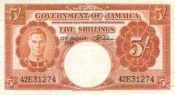 5 Shillings JAMAÏQUE  1958 P.37b pr.SUP