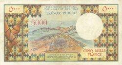 5000 Francs AFARS ET ISSAS  1975 P.35 TTB+