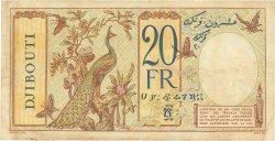 20 Francs DJIBOUTI  1936 P.07a pr.TTB