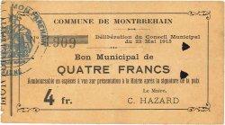 4 Francs FRANCE régionalisme et divers  1915 JP.02-1550 TTB