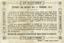 50 Centimes SÉNÉGAL  1917 P.01b TB
