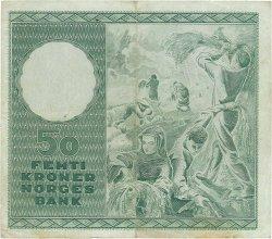 50 Kroner NORVÈGE  1958 P.32b2 TTB