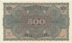 500 Mark ALLEMAGNE Dresden 1922 PS.0954a NEUF