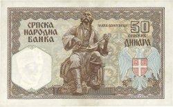 50 Dinara SERBIE  1941 P.26 SUP