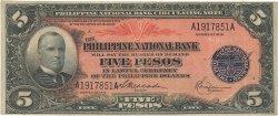 5 Pesos PHILIPPINES  1916 P.046b TTB+