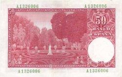 50 Pesetas ESPAGNE  1951 P.141a pr.SPL