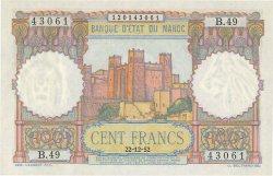 100 Francs type 1948 MAROC  1952 P.45 SPL