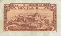 5 Piastres LIBAN  1950 P.46 TB