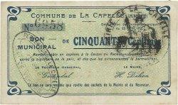 50 Centimes FRANCE régionalisme et divers CAPELLE (LA) 1915 JP.02-0397 TTB