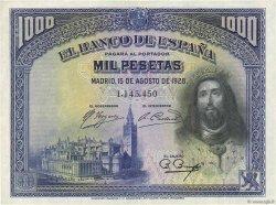 1000 Pesetas ESPAGNE  1928 P.078a SUP