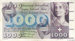 1000 Francs SUISSE  1954 P.52a TTB+