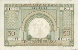 50 Francs type 1949 MAROC  1949 P.44 TTB