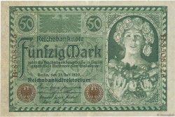 50 Mark ALLEMAGNE  1920 P.068 TTB+