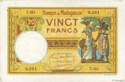 20 Francs MADAGASCAR  1937 P.37 pr.SUP