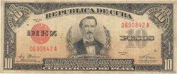 10 Pesos CUBA  1948 P.071g TB