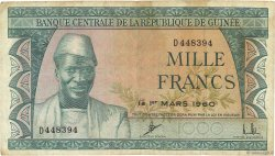 1000 Francs GUINÉE  1960 P.15a TB+