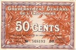 50 Cents INDOCHINE FRANÇAISE  1939 P.087e pr.NEUF