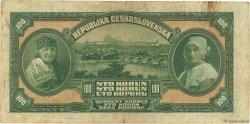 100 Korun TCHÉCOSLOVAQUIE  1920 P.017a TTB