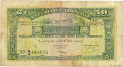 50 Piastres LIBAN  1942 P.37 pr.TB