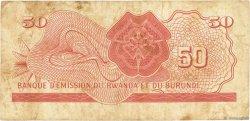 50 Francs RWANDA BURUNDI  1960 P.04 TB