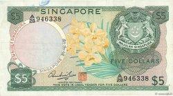 5 Dollars SINGAPOUR  1967 P.02d TTB