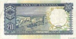 20 Shillings TANZANIE  1966 P.03b TB+