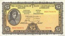 5 Pounds IRLANDE  1975 P.065c SUP