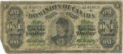 1 Dollar CANADA  1878 P.018a B+