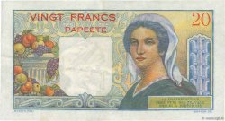 20 Francs TAHITI  1963 P.21c TTB