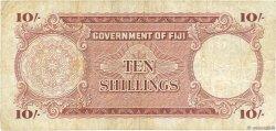 10 Shillings FIDJI  1961 P.052b TB