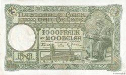 1000 Francs= 200 Belgas BELGIQUE  1939 P.110 SUP