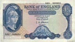 5 Pounds ANGLETERRE  1957 P.371a TTB