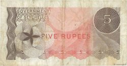 5 Rupees SEYCHELLES  1968 P.14a TB