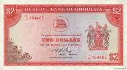 2 Dollars RHODÉSIE  1974 P.31h TTB