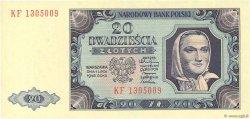 20 Zlotych POLOGNE  1948 P.137 NEUF