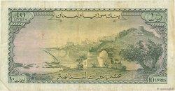 10 Livres LIBAN  1961 P.57a TB