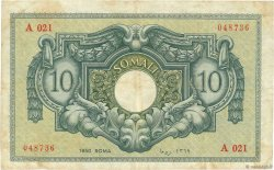 10 Somali SOMALIE  1950 P.13a TB