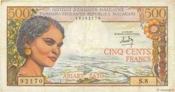 500 Francs - 100 Ariary MADAGASCAR  1966 P.58a TTB