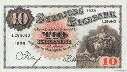 10 Kronor SUÈDE  1938 P.34u pr.NEUF