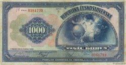 1000 Korun TCHÉCOSLOVAQUIE  1932 P.025a TB